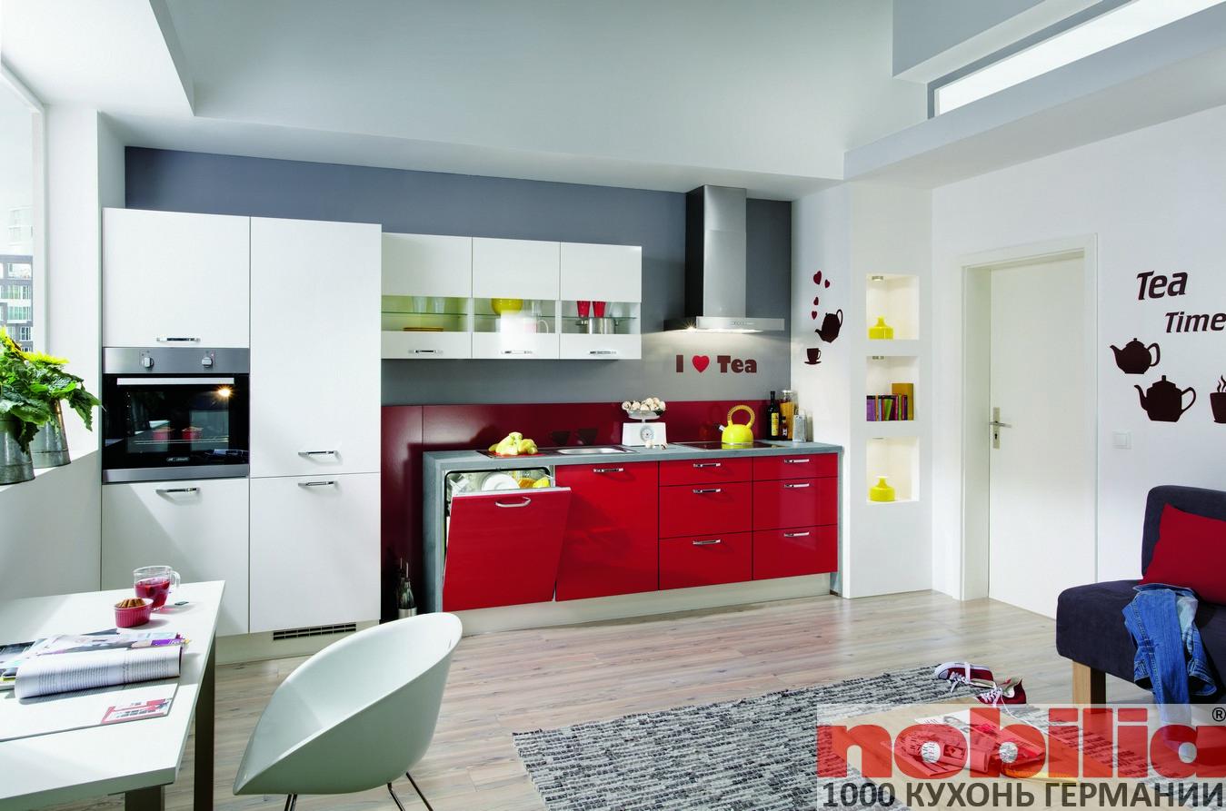 кухонные фасады красного цвета